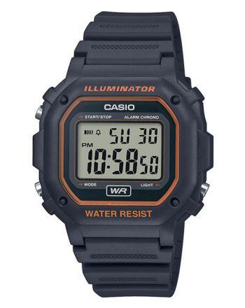 Ψηφιακό ρολόι Casio Quartz με Μαύρο Λουράκι Ρητίνης F-108WH-8A2EF