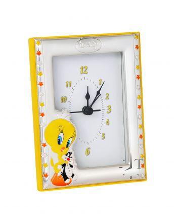 Επιτραπέζιο Παιδικό Ρολόι με Ασήμι με τον Tweety GBTW8018/2G