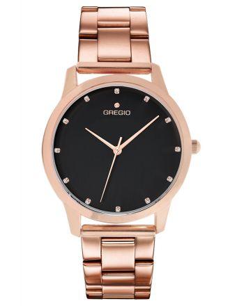 Ρολόι Gregio Nora Quartz με μπρασελέ σε ροζ χρυσό GR123031