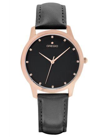 Ρολόι Gregio Nora Quartz με δερμάτινο λουράκι GR123083