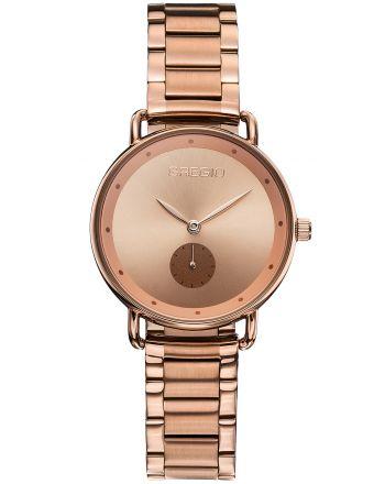 Ρολόι Gregio Chrystie Quartz με Μπρασελέ σε Ρόζ Χρυσό Χρώμα GR140031