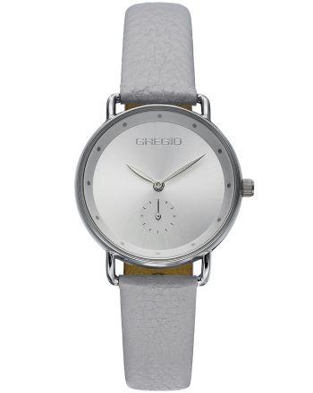 Ρολόι Gregio Chrystie Quartz με Γκρί Δερμάτινο Λουράκι GR140060