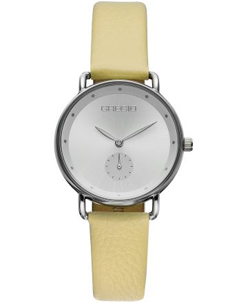 Ρολόι Gregio Chrystie Quartz με Κίτρινο Δερμάτινο Λουράκι GR140061