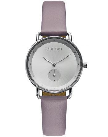 Ρολόι Gregio Chrystie Quartz με Μώβ Δερμάτινο Λουράκι GR140062