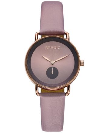 Ρολόι Gregio Chrystie Quartz με Μώβ Δερμάτινο Λουράκι GR140082