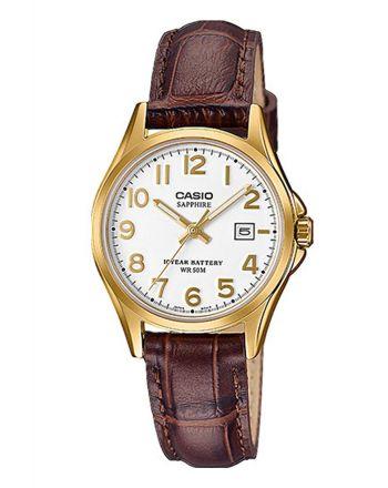 Γυναικείο Ρολόι Casio Standard Quartz με Δερμάτινο Λουράκι LTS-100GL-7AVEF