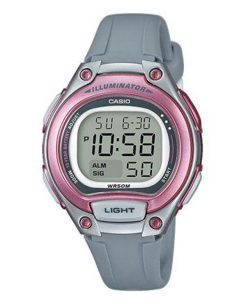 Ψηφιακό ρολόι Casio Quartz με Γκρι Λουράκι Ρητίνης LW-203-8AVEF