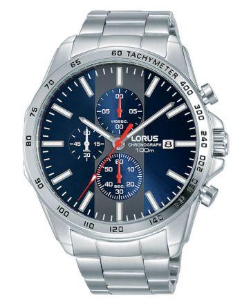 Ανδρικό Ρολόι Lorus με Μπρασελέ απο Ανοξείδωτο Ατσάλι RM383EX