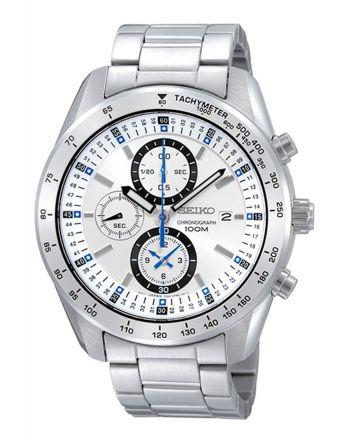 Ρολόι Seiko Quartz από Ανοξείδωτο Ατσάλι με Χρονογράφο SNDB51P1