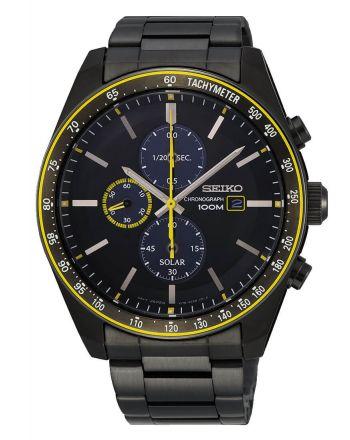 Ρολόι Ηλιακό Seiko με μπρασελέ από ανοξείδωτο ατσάλι SSC723P1