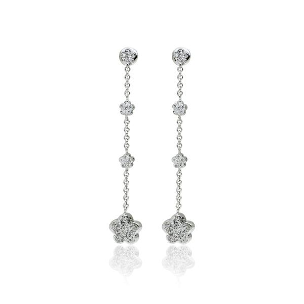 Σκουλαρίκια Κ18 με Διαμάντια, Κωδ. 001888