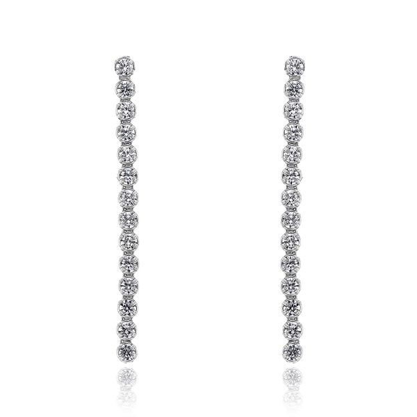 Σκουλαρίκια Κ14 με Πέτρες Ζιργκόν, Κωδ. 032654
