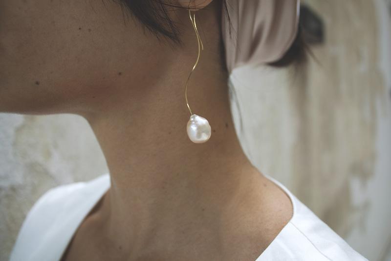 Κρεμαστά σκουλαρίκια με μαργαριτάρια