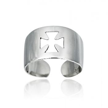 Δαχτυλίδι Σεβαλιέ Λευκό Χρυσό 14 Καρατίων Κ14 019507