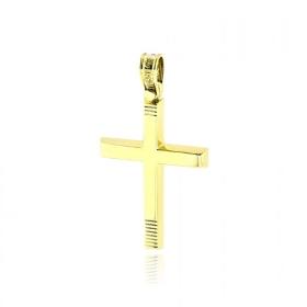 Σταυρός Βάπτισης Τριάντος Για Αγόρι από Κίτρινο Χρυσό Κ14 036594