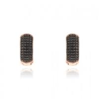 Σκουλαρίκια Κρίκοι από Ασήμι 925 με Πέτρες Ζιργκόν 032840