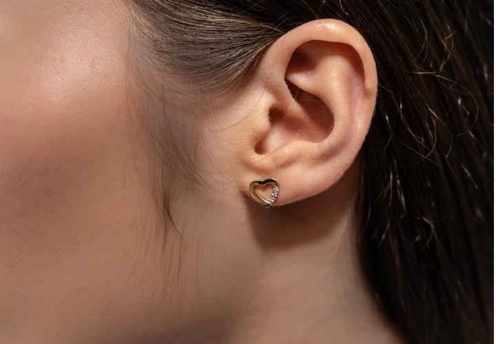 Σκουλαρίκια Κίτρινο Χρυσό 14 Καρατίων Κ14 με Πέτρες Ζιργκόν 009454