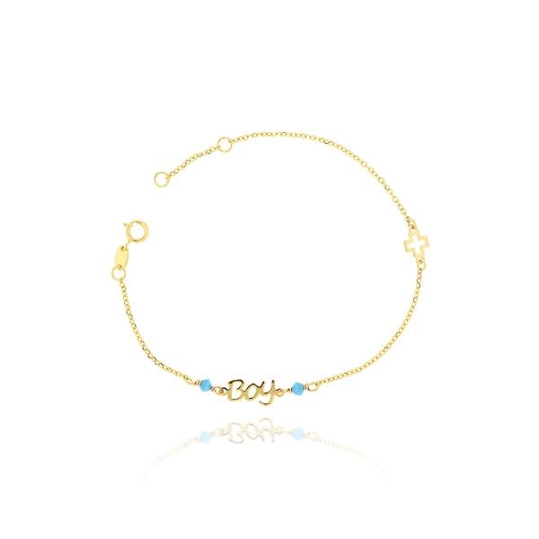 Βραχιόλι από Κίτρινο Χρυσό 9 Καρατίων Κ09 030181
