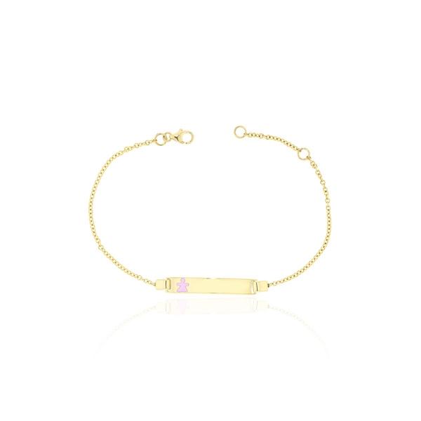 Παιδική Ταυτότητα Κίτρινο Χρυσό 9 Καρατίων Κ9 για Κορίτσι 030467