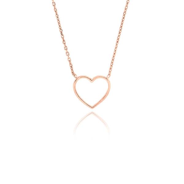 Μενταγιόν Καρδιά με Αλυσίδα από Ασήμι 925 032928