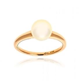 Δαχτυλίδι από Ροζ Χρυσό Κ14 με Μαργαριτάρι 036244