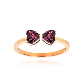 Δαχτυλίδι από Ροζ Χρυσό Κ14 με Πέτρες Ζιργκόν 036212