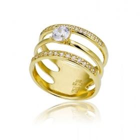 Δαχτυλίδι Κίτρινο Χρυσό 14 Καρατίων Κ14 με Ζιργκόν 027263