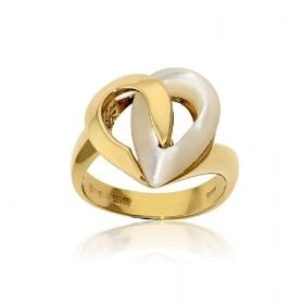 Δαχτυλίδι Κίτρινο Χρυσό 18 Καρατίων Κ18 με Φίλντισι 018461
