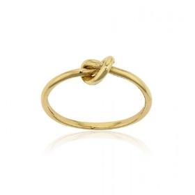 Δαχτυλίδι Κόμπος απο Κίτρινο Χρυσό Κ14 030021