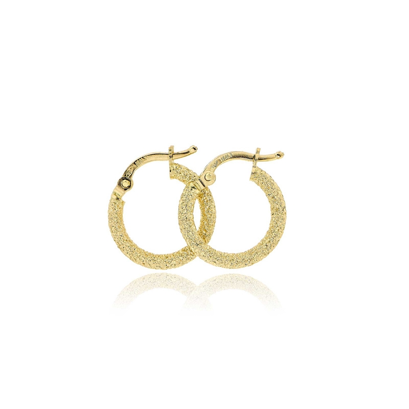 Σκουλαρίκια Κρίκοι από Κίτρινο Χρυσό 14 Καρατίων 033226