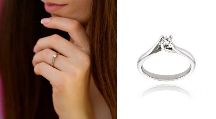 Μονόπετρο Δαχτυλίδι από Πλατίνα με Διαμάντι Μπριγιάν 033622