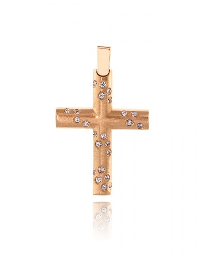 Σταυρός Βάπτισης Val΄Oro για Κορίτσι από Ροζ Χρυσό Κ14 034899