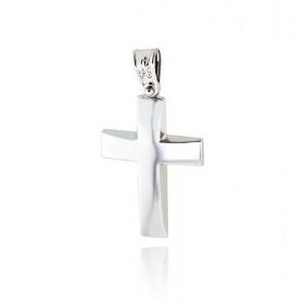 Σταυρός Βάπτισης για Αγόρι από Λευκό Χρυσό Κ14 036568