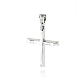 Σταυρός Βάπτισης για Αγόρι από Λευκό Χρυσό Κ14 036570