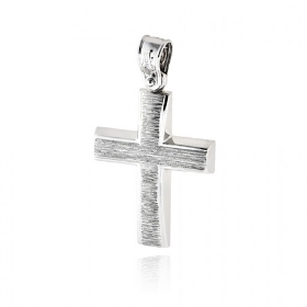 Σταυρός Βάπτισης για Αγόρι από Λευκό Χρυσό Κ14 036571