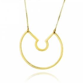 Μενταγιόν με Αλυσίδα από Κίτρινο Χρυσό Κ14 035068