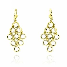 Σκουλαρίκια από Ασήμι 925 με Πέτρες Ζιργκόν 035871
