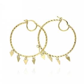 Σκουλαρίκια Gabriela Rigamonti Κρίκοι από Κίτρινο Χρυσό 14 Καρατίων 036383
