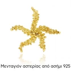 Μενταγιόν Αστερίας από Ασήμι 925 020622