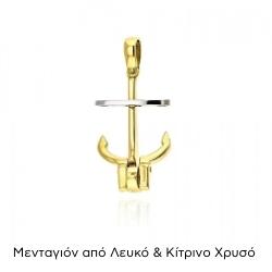 Μενταγιόν απο Λευκό & Κίτρινο Χρυσό Κ14 036095