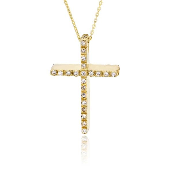 Σταυρός Βάπτισης Val΄Oro με Αλυσίδα για Κορίτσι Κίτρινο Χρυσό Κ14 033137