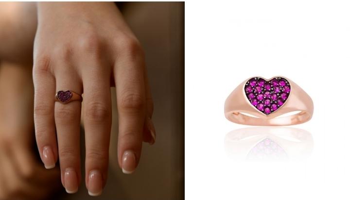 Δαχτυλίδι Καρδιά Κ09 με Ζιργκόν 022325