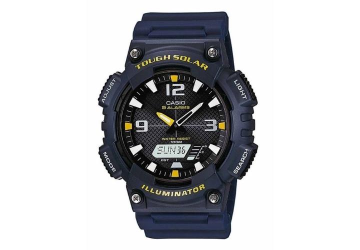 Ηλιακό Ρολόι Casio Standard με Μπλε Λουράκι Ρητίνης AQ-S810W-2AVEF