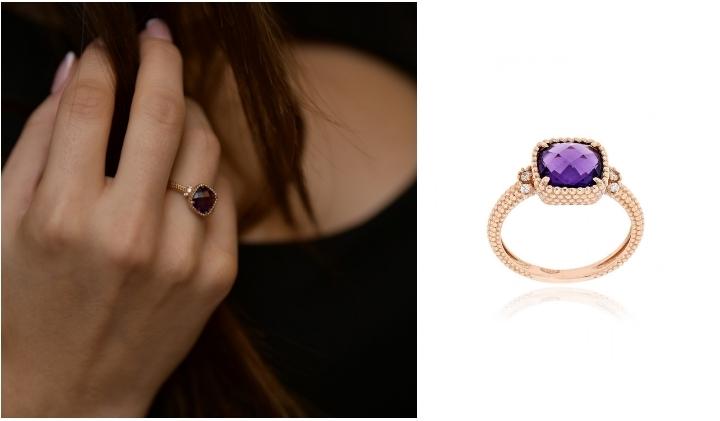 Δαχτυλίδι από Ροζ Χρυσό 14 Καρατίων με Πέτρες Ζιργκόν 032416