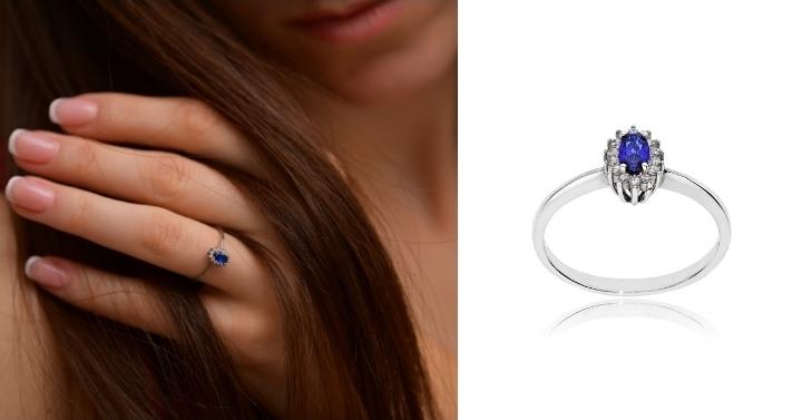 Δαχτυλίδι Ροζέτα από Λευκό Χρυσό 14 Καρατίων με Πέτρες Ζιργκόν 032708